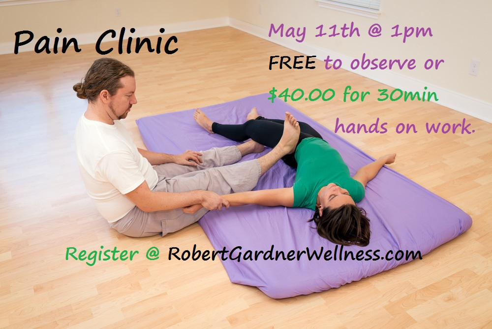Robert Gardner Wellness Pain Clinic May 11th